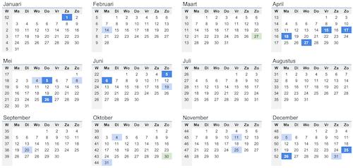 Kalender januari februari maart april mei juni juli augustus oktober november december 2022